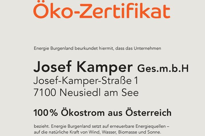 Öko-Zertifikat